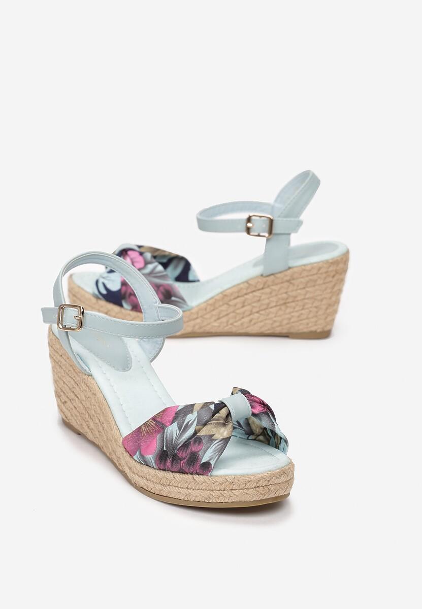Miętowe Sandały Crocus
