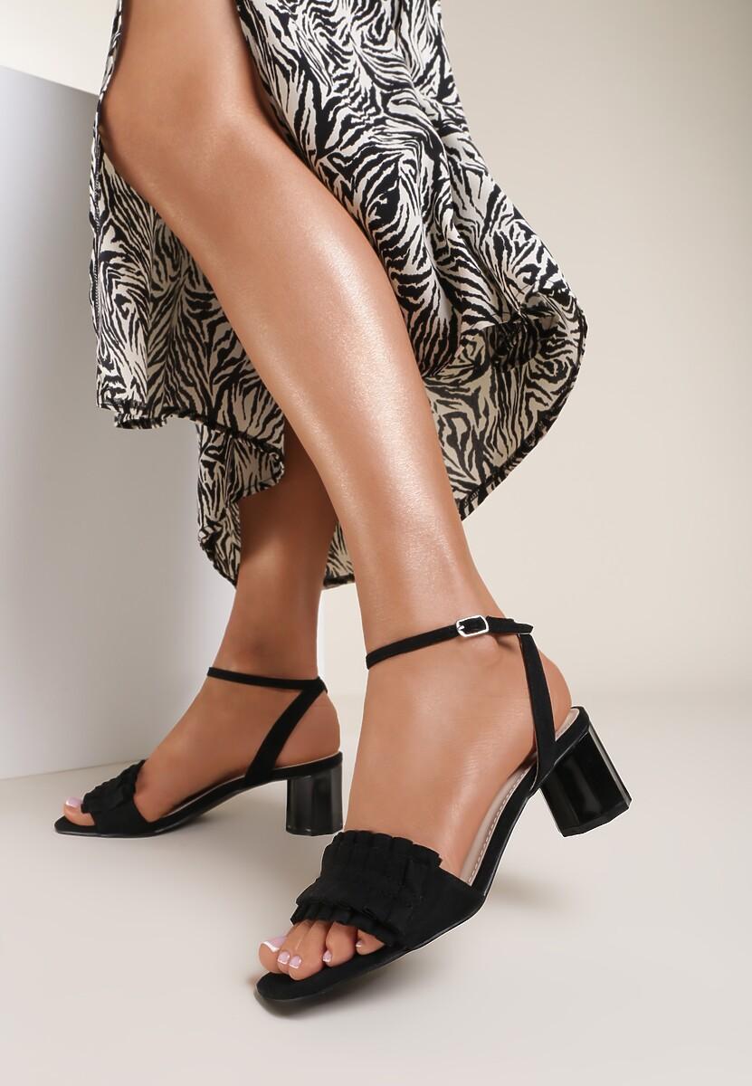 Czarne Sandały Want Me Too
