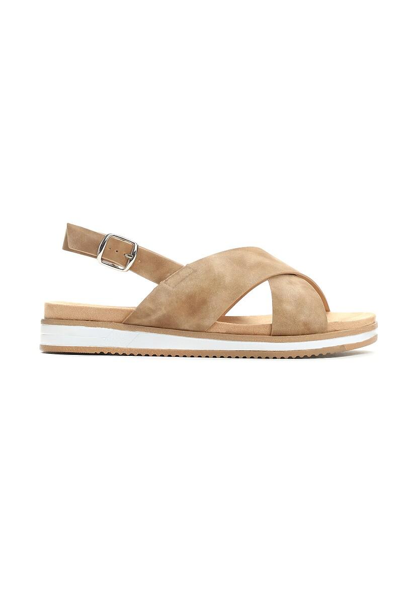 Ciemnobeżowe Sandały Resourceful