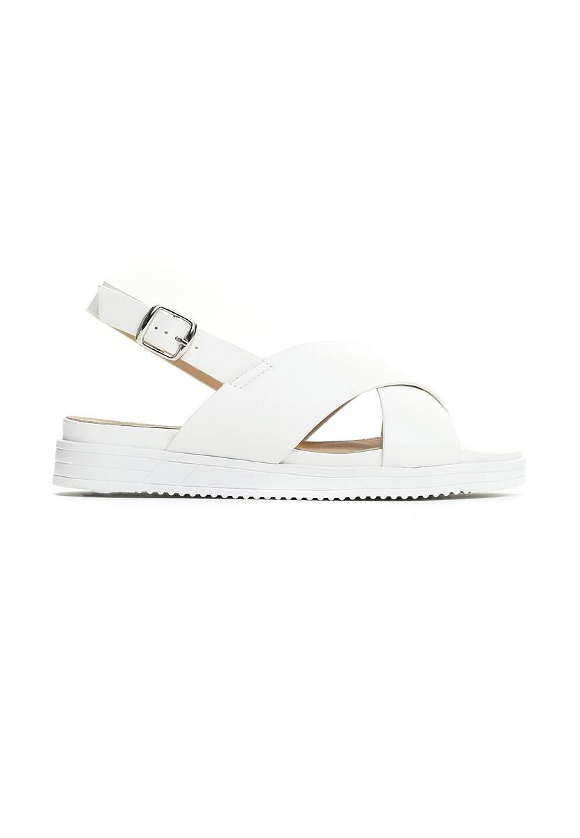 Białe Sandały Materialistic