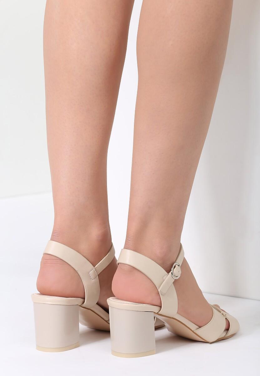 Beżowe Sandały Sweety Heart