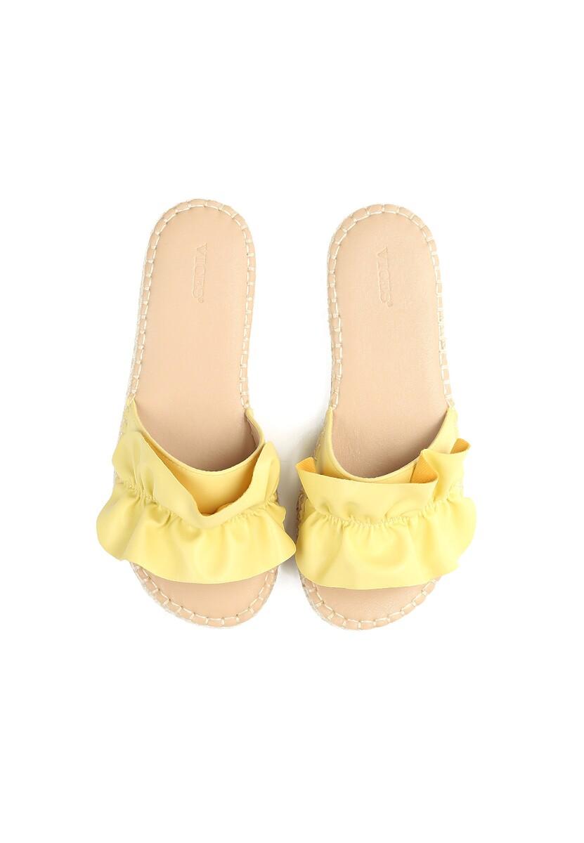 Żółte Klapki Sweet Lies