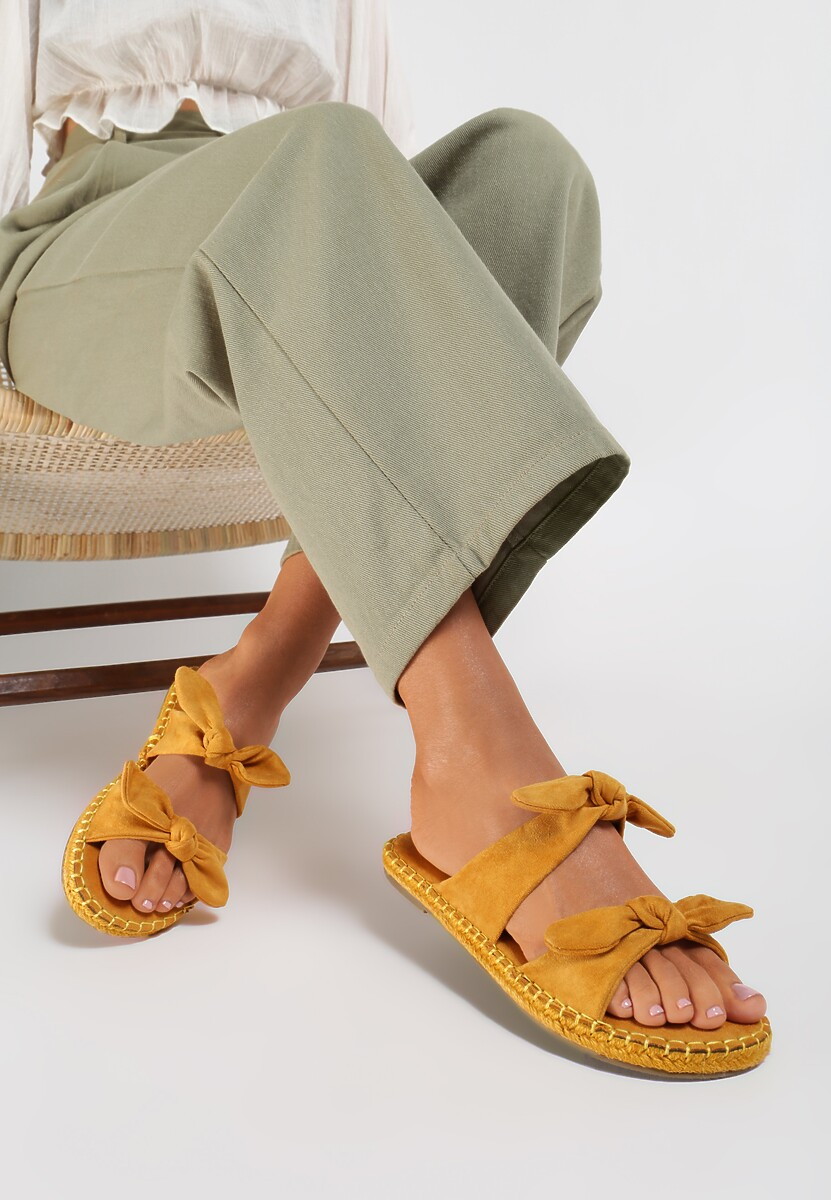 Żółte Klapki Blush