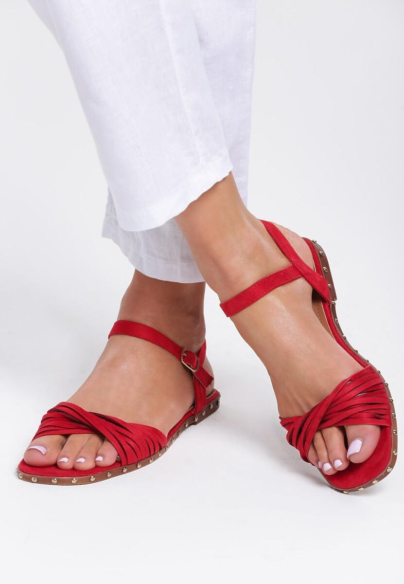 Czerwone Sandały White Lady