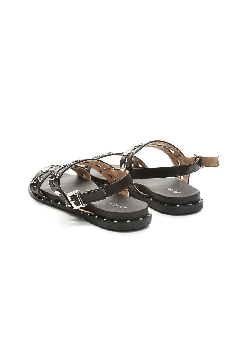 Czarne Sandały Electric