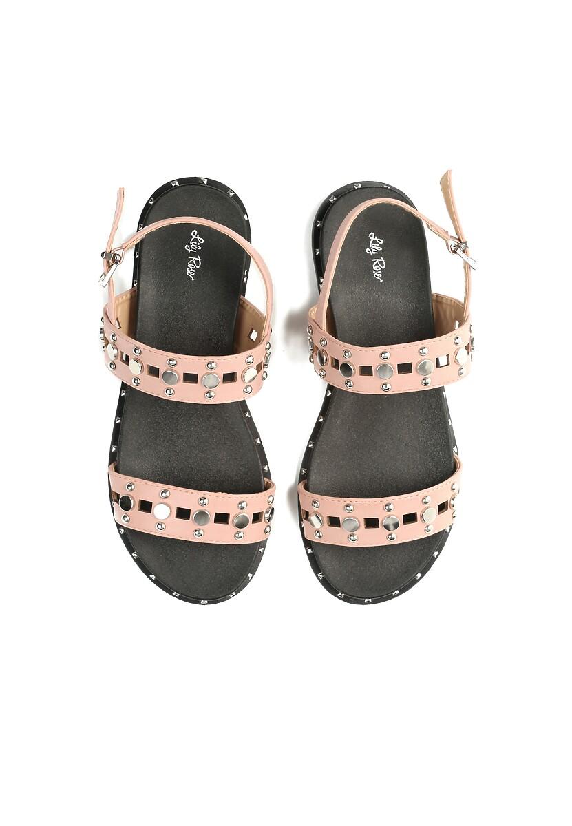 Różowe Sandały Electric
