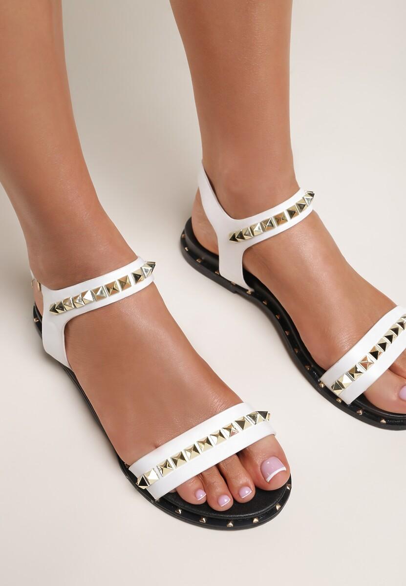 Białe Sandały Passionate Red