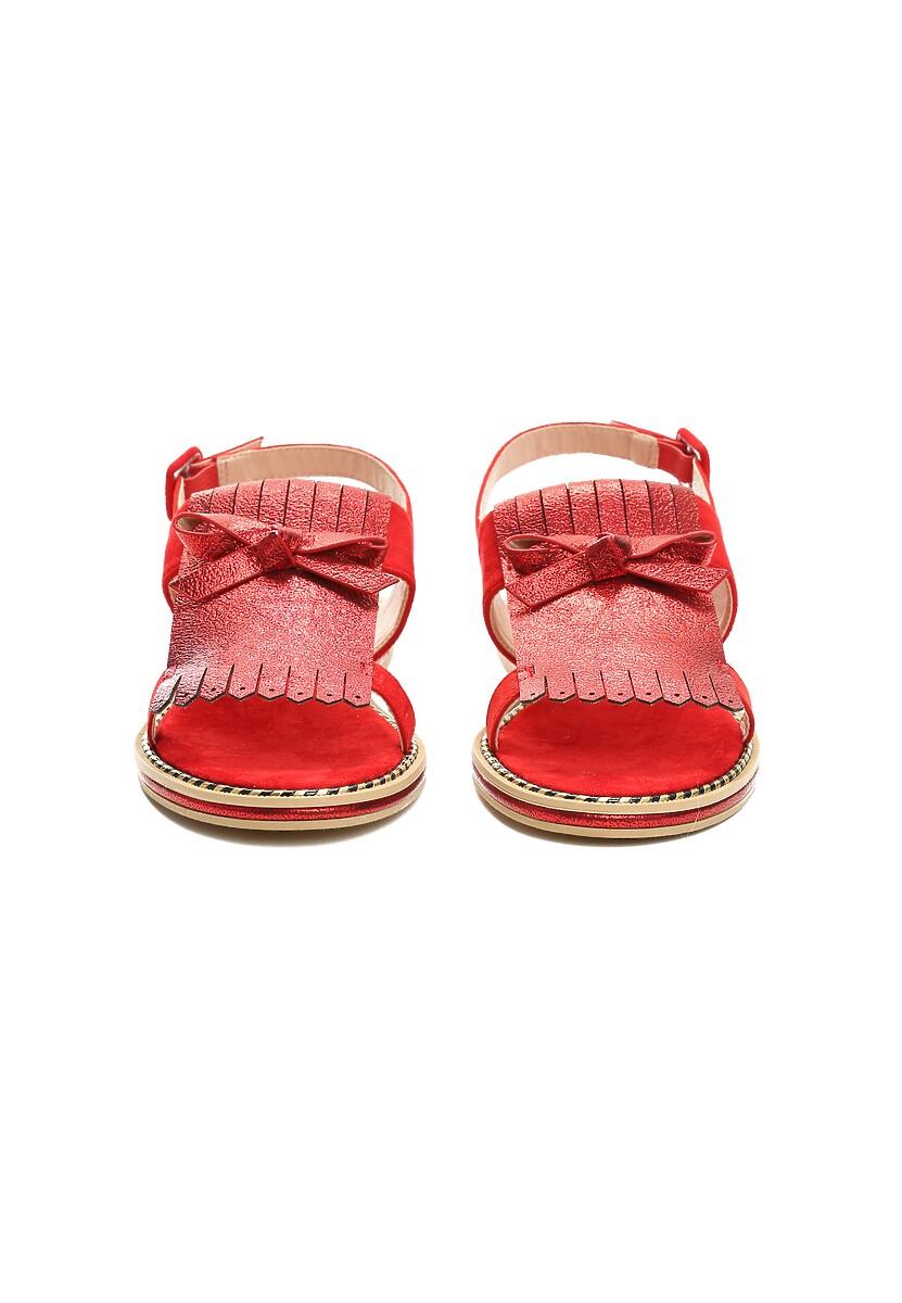 Czerwone Sandały Charcoal Black