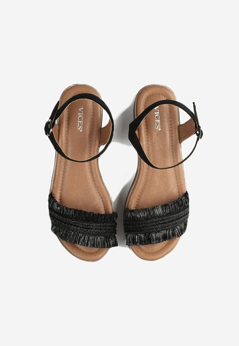 Czarne Sandały Queen of Catwalk