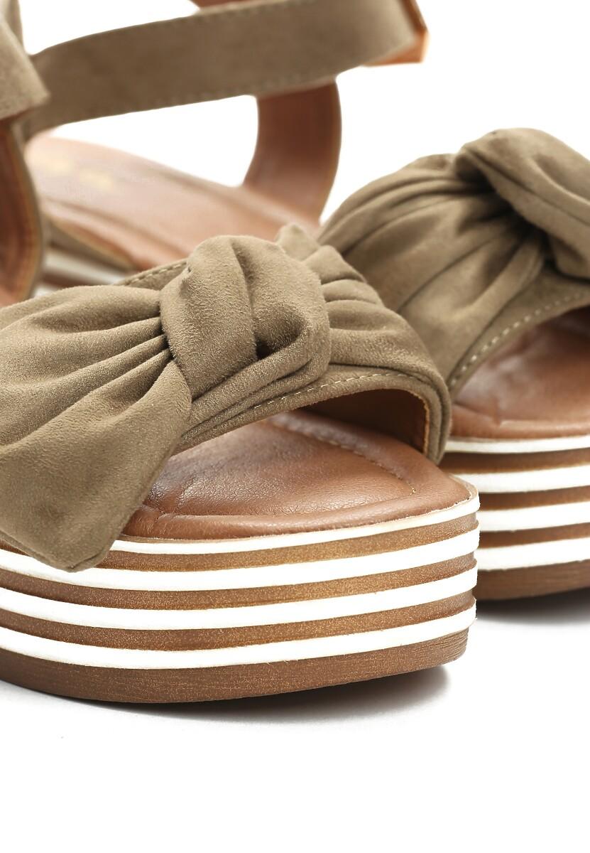 Zielone Sandały Etherealize