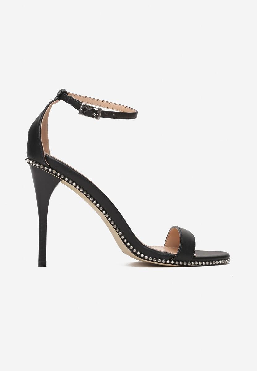 Czarne Sandały Shine Silently