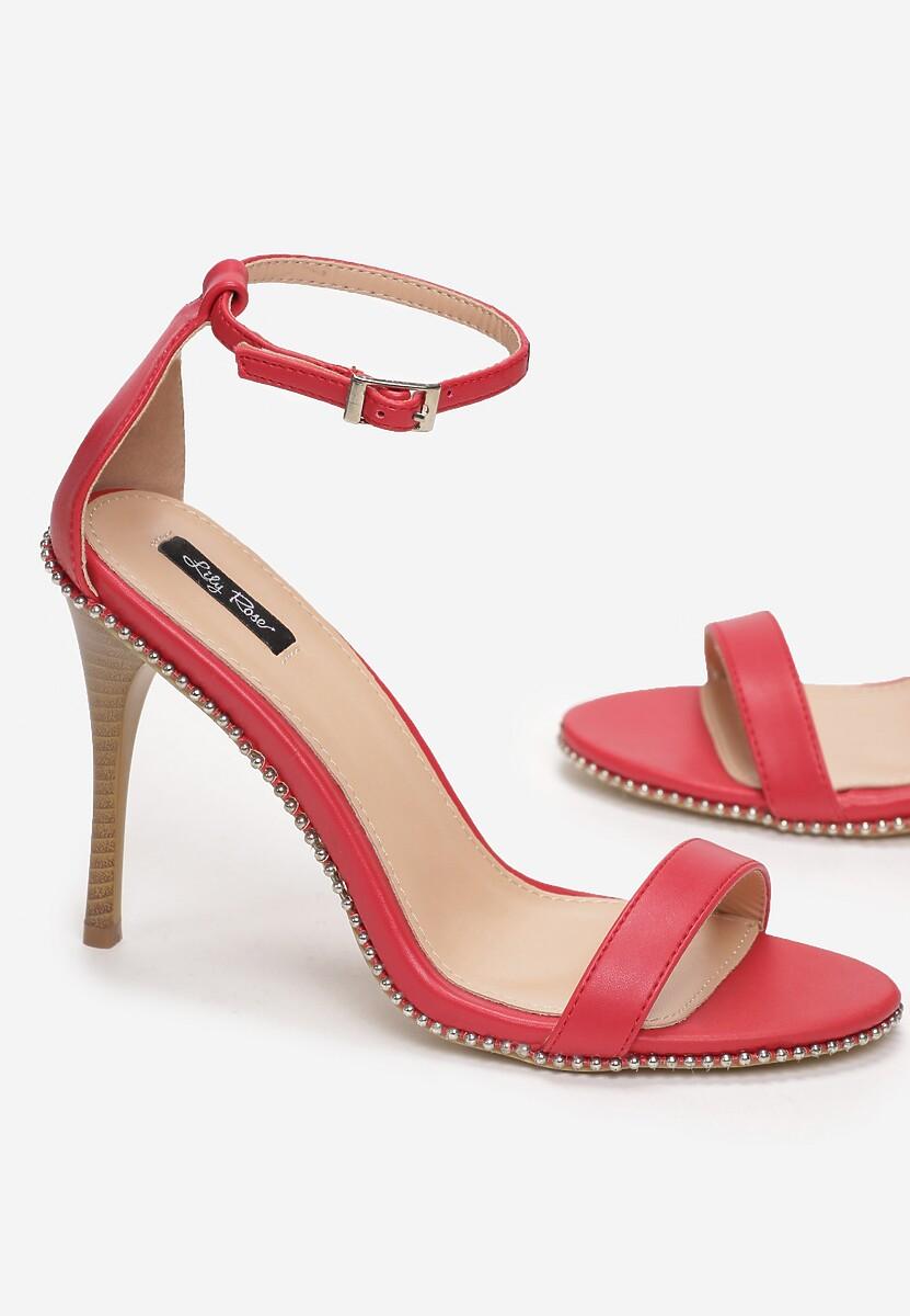 Czerwone Sandały Shine Silently