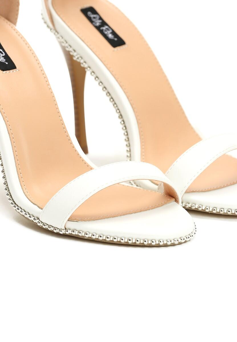 Białe Sandały Shine Silently
