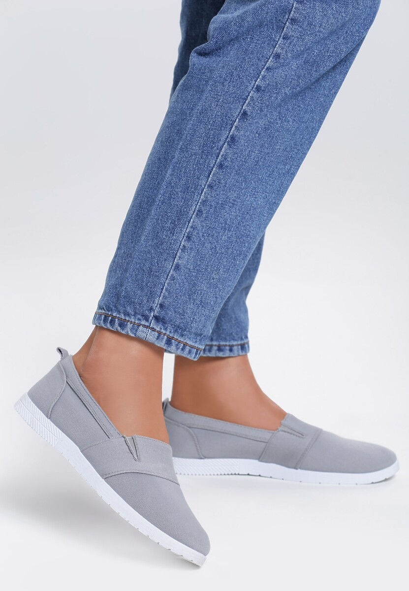 Szare Slip On In The Middle