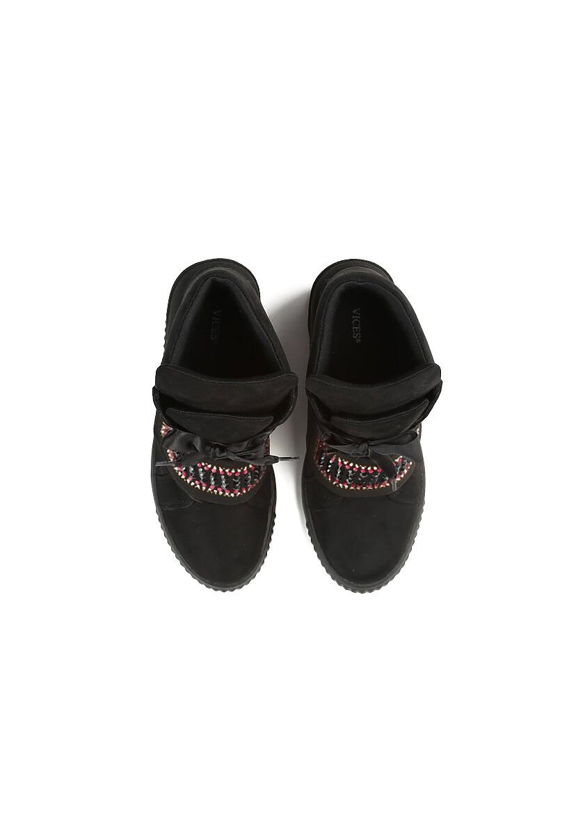 Czarne Sneakersy Want Me