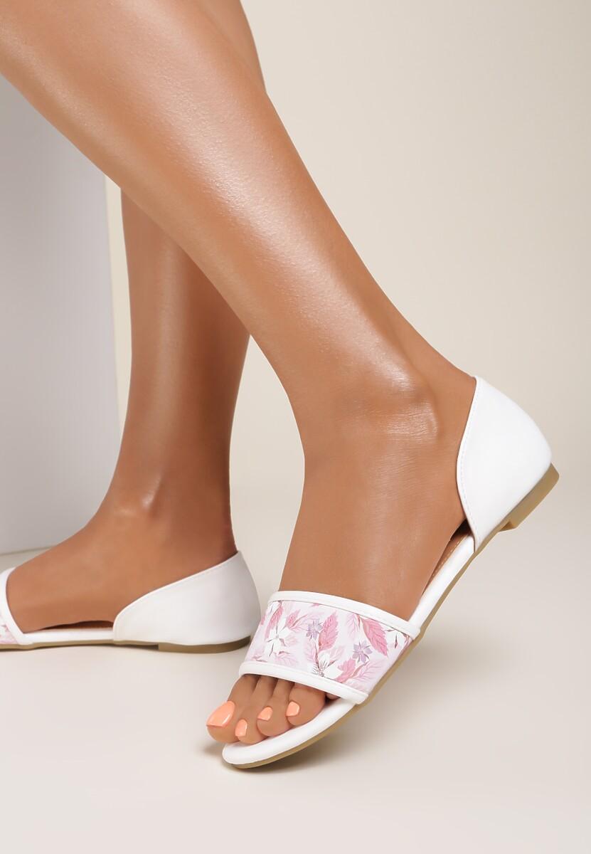 Biało-Beżowe Sandały Lead On