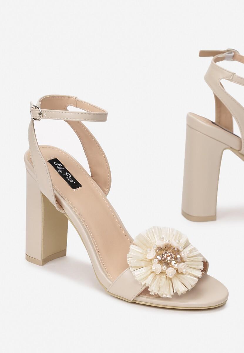 Jasnobeżowe Sandały Contemporary