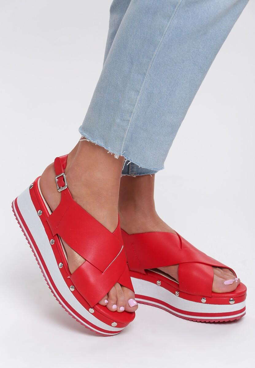 Czerwone Sandały Sunglow