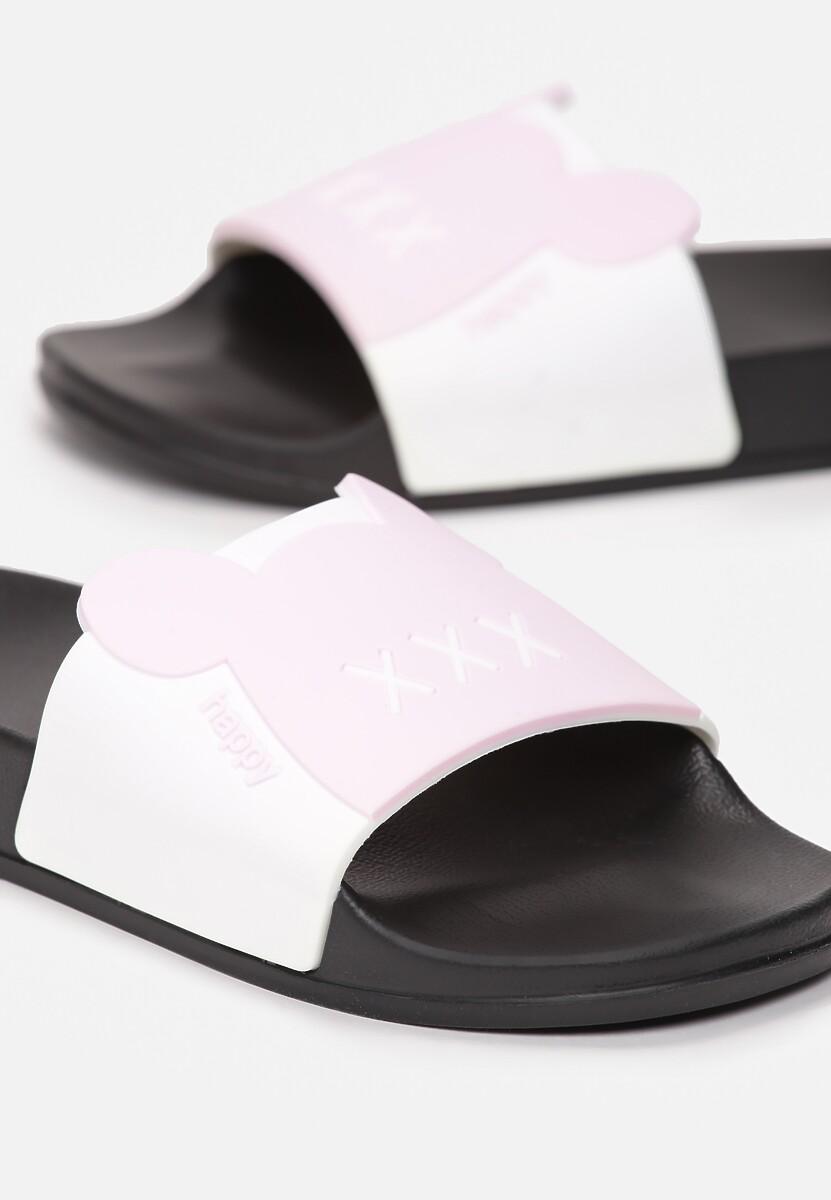 Biało-Różowe Klapki Azure Love