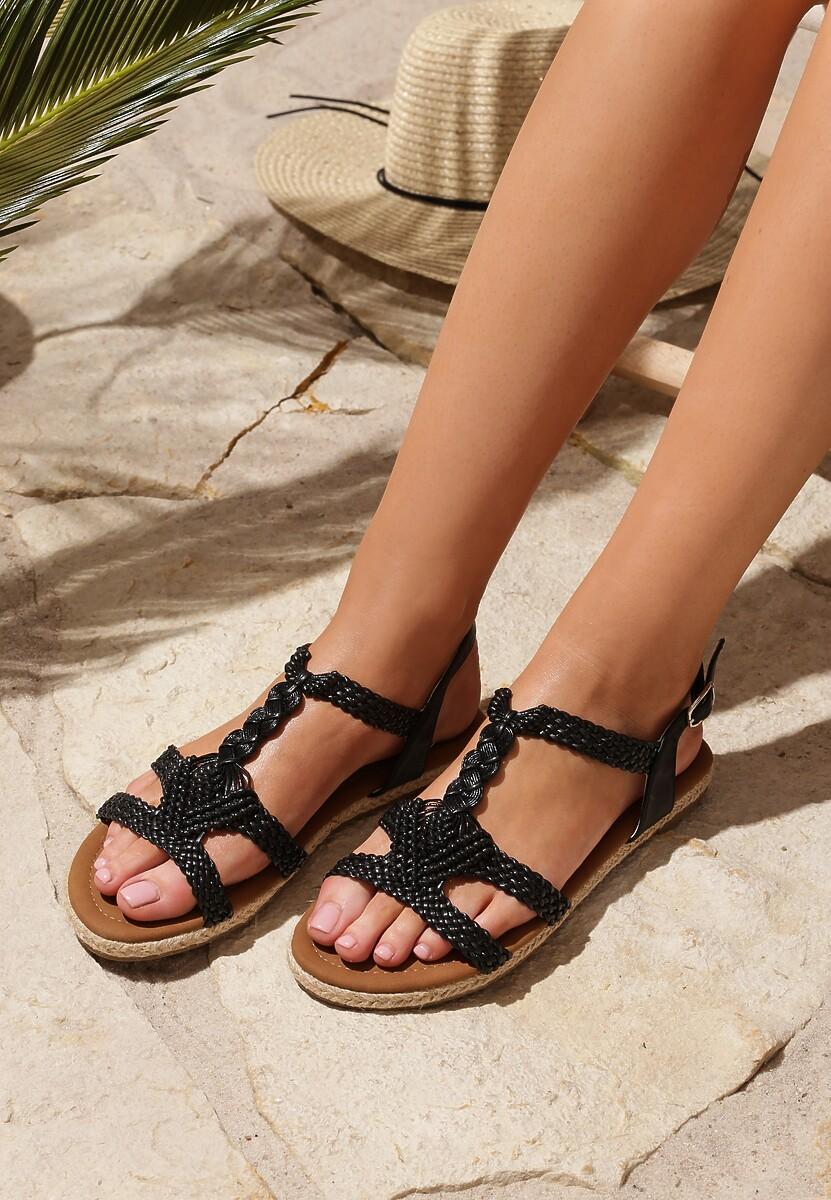Czarne Sandały Double Trouble