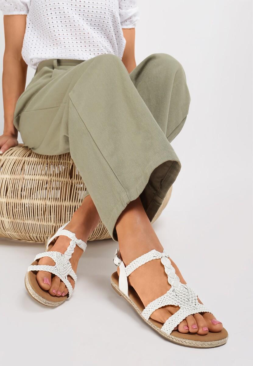 Białe Sandały Double Trouble