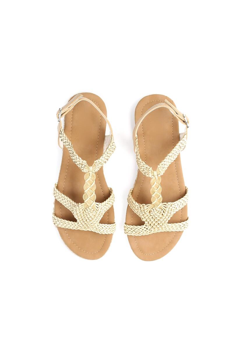 Beżowe Sandały Double Trouble