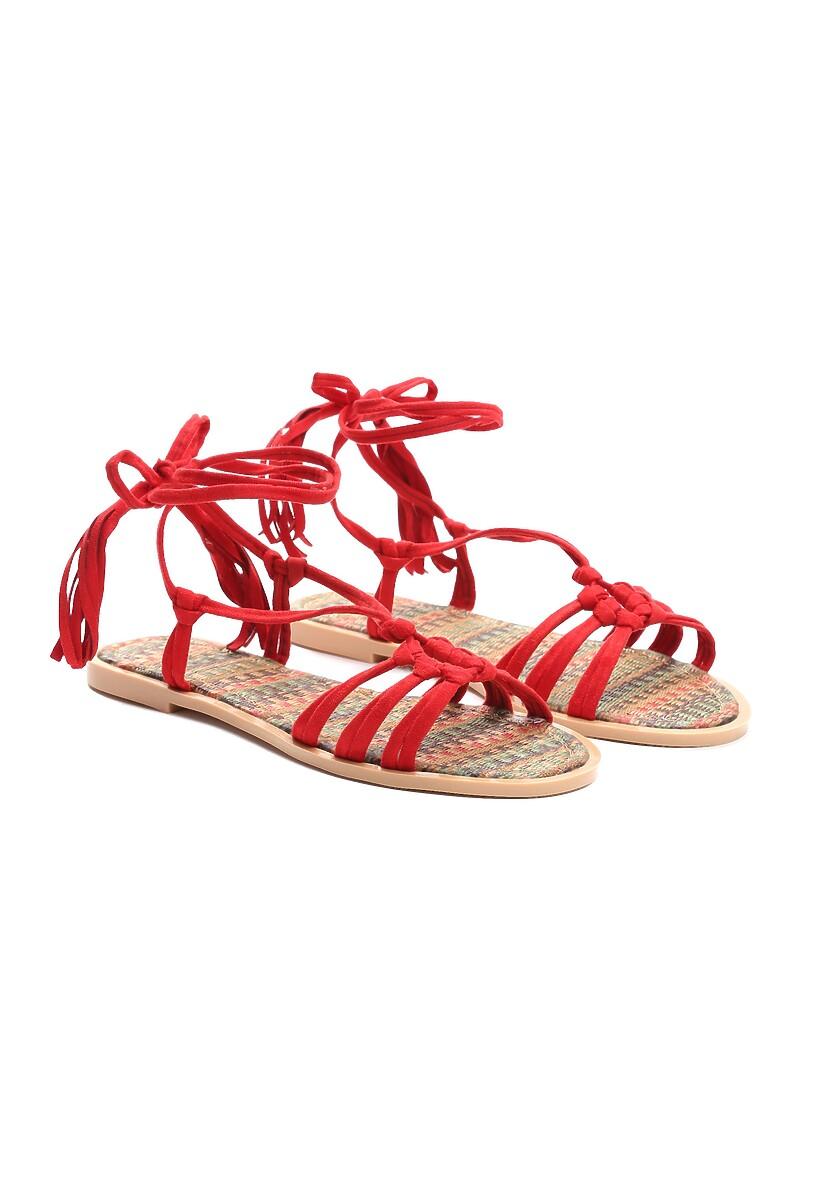 Czerwone Sandały Petite Fleur