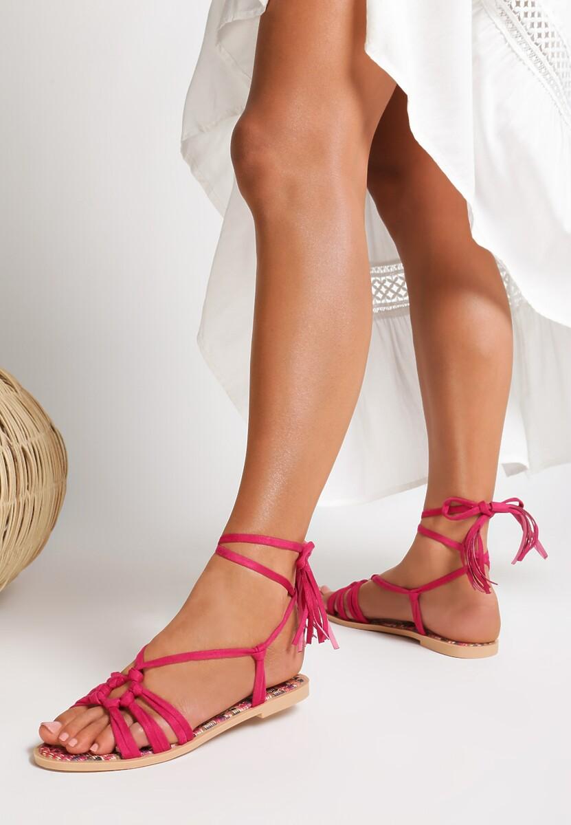 Fioletowe Sandały Petite Fleur