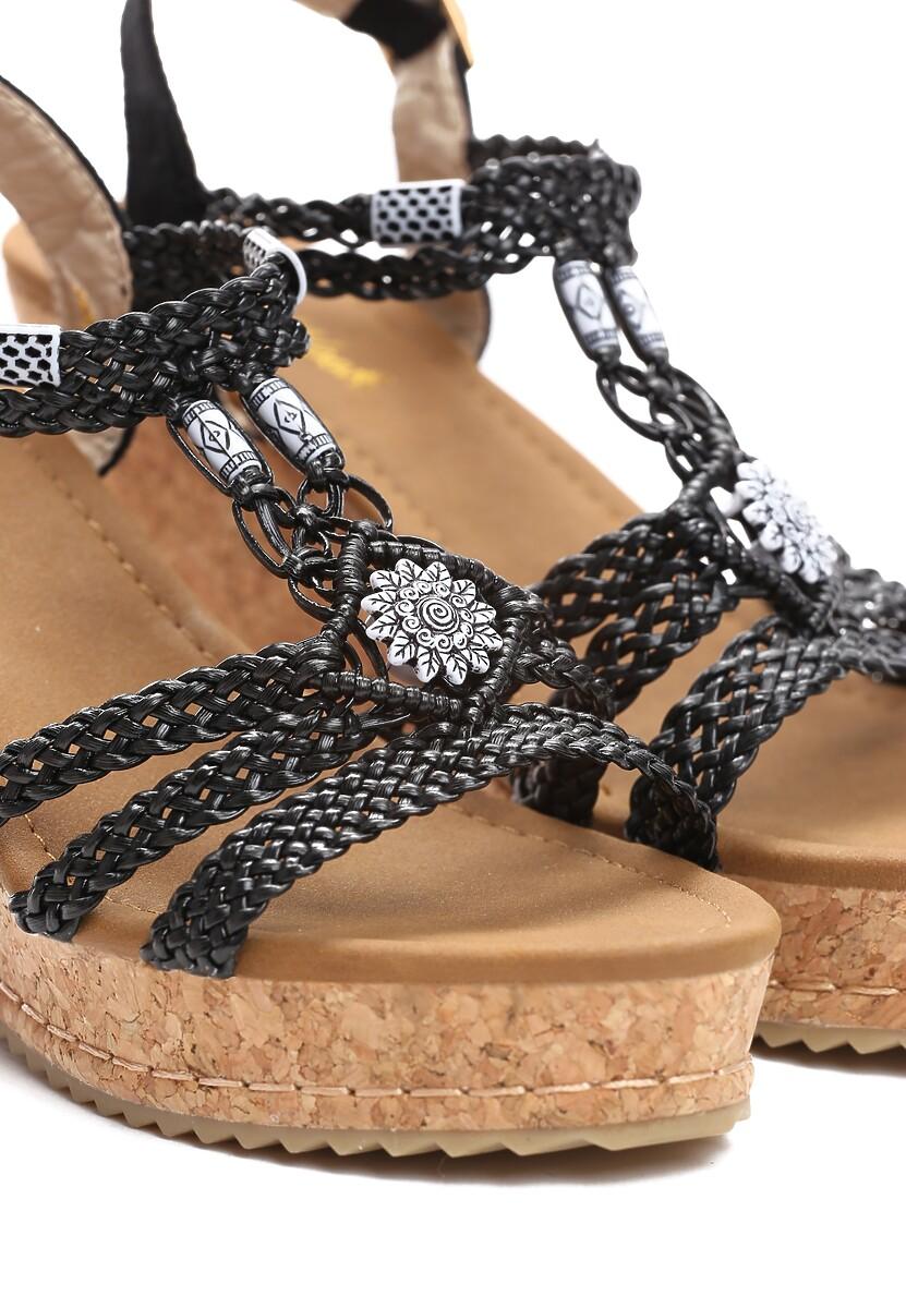 Czarne Sandały Forbearance
