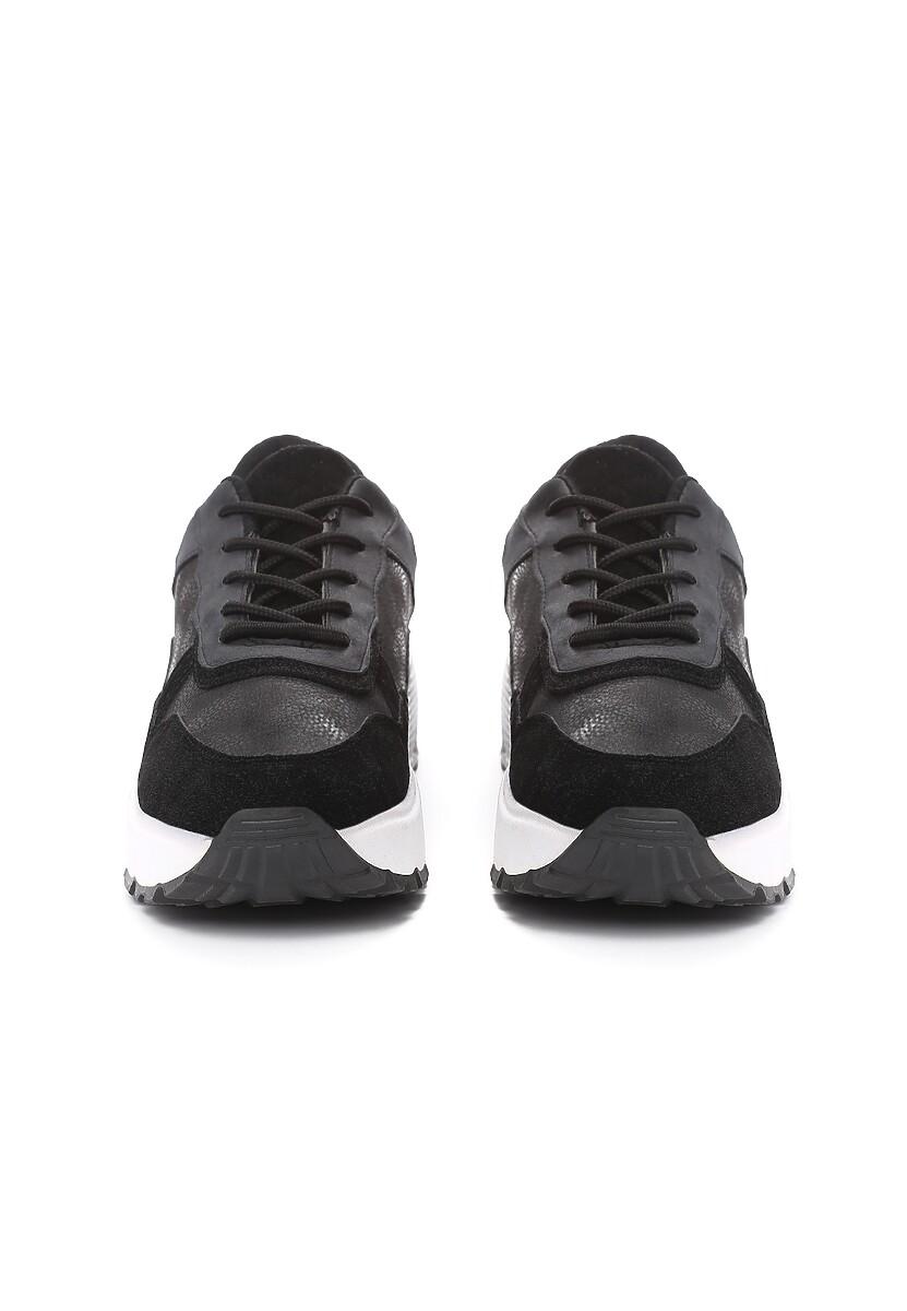Czarne Sneakersy Moonchild