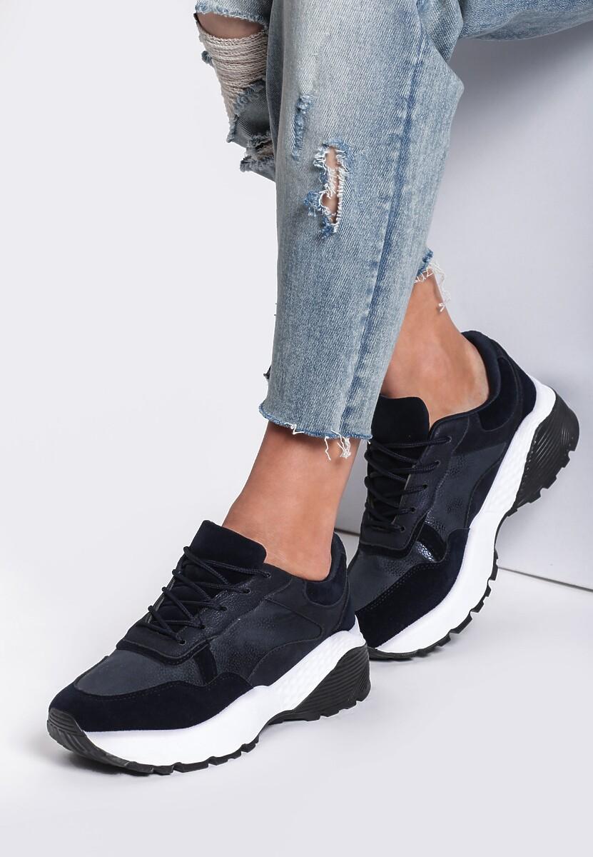 Granatowe Sneakersy Moonchild