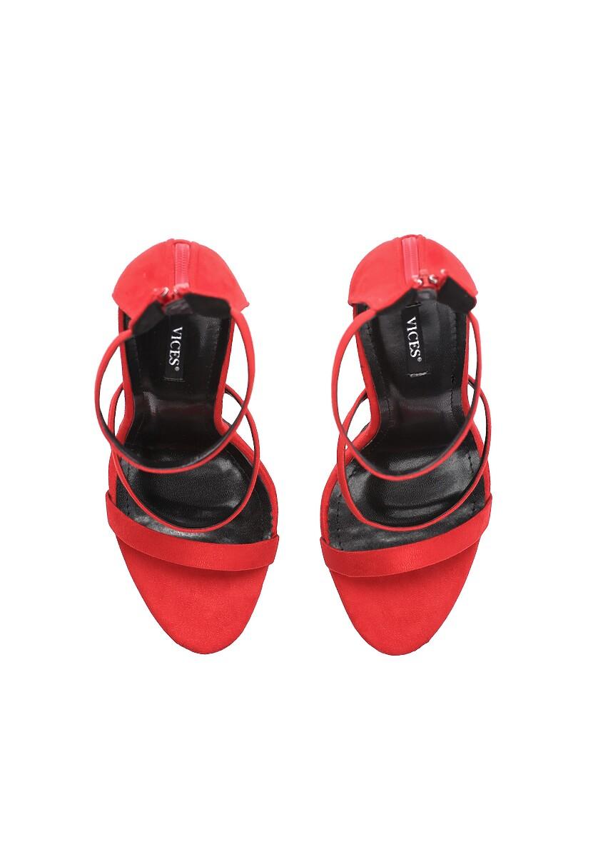 Czerwone Sandały Tattersall