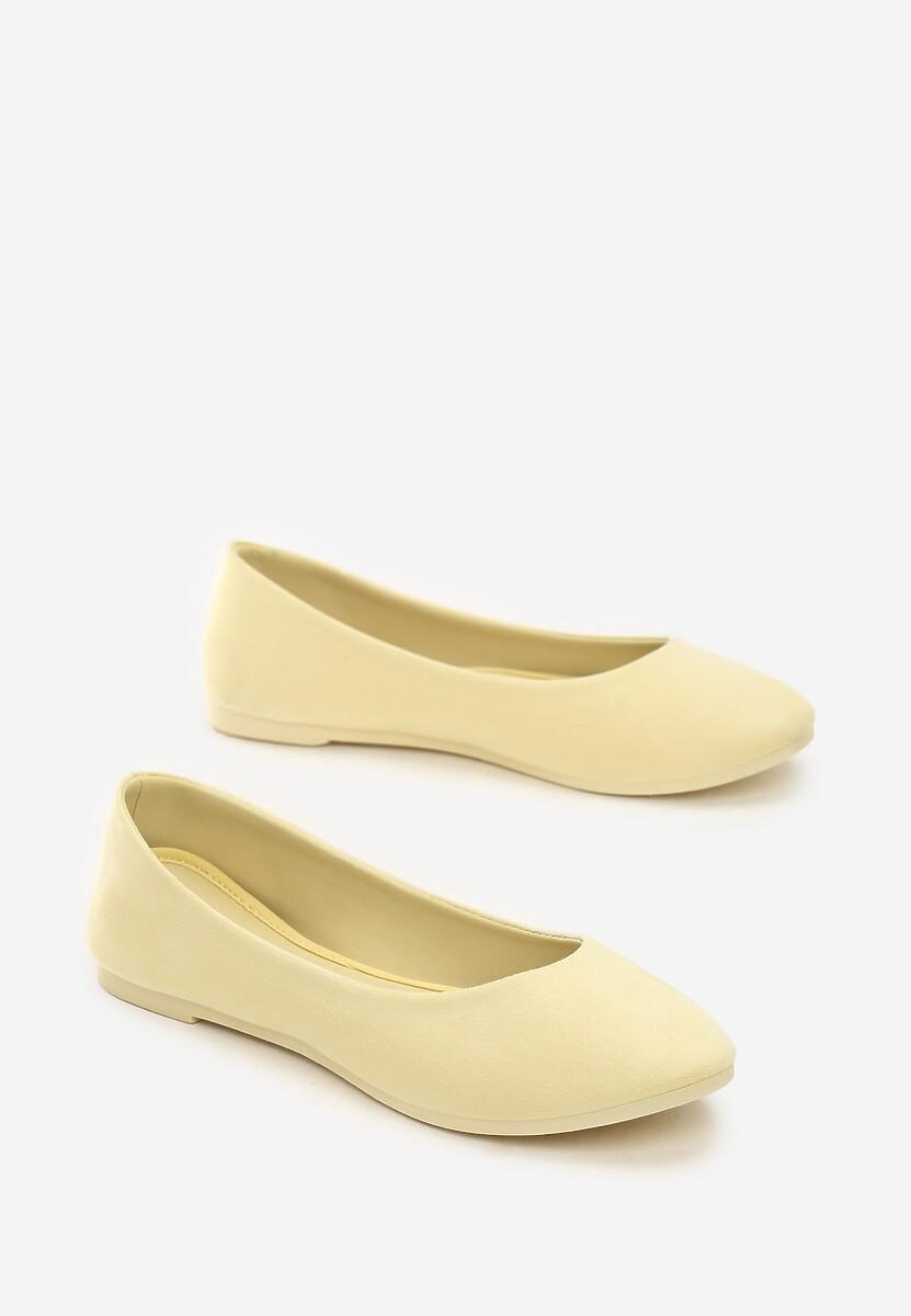 Żółte Balerinki Polite