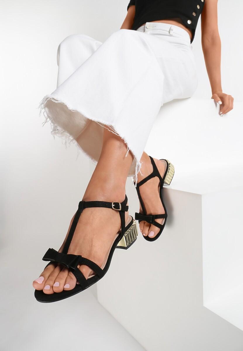 Czarne Sandały Brusque