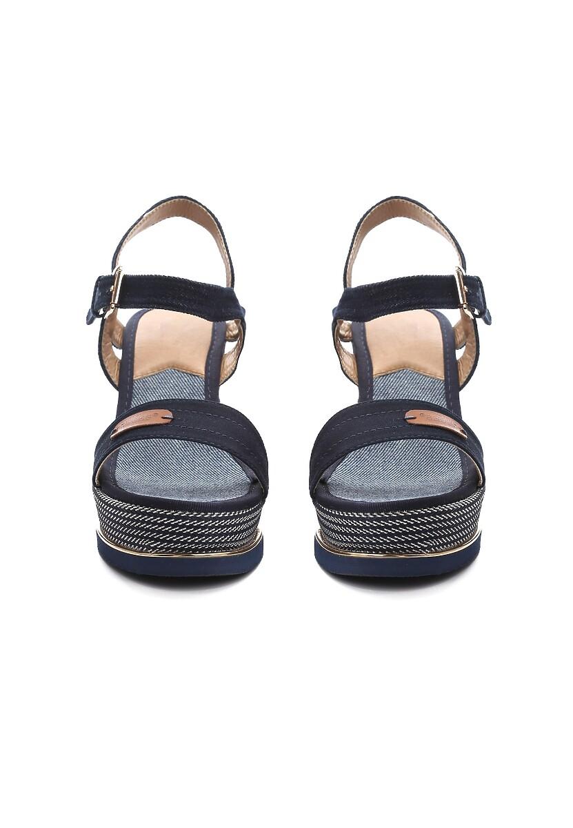 Granatowe Sandały Choleric