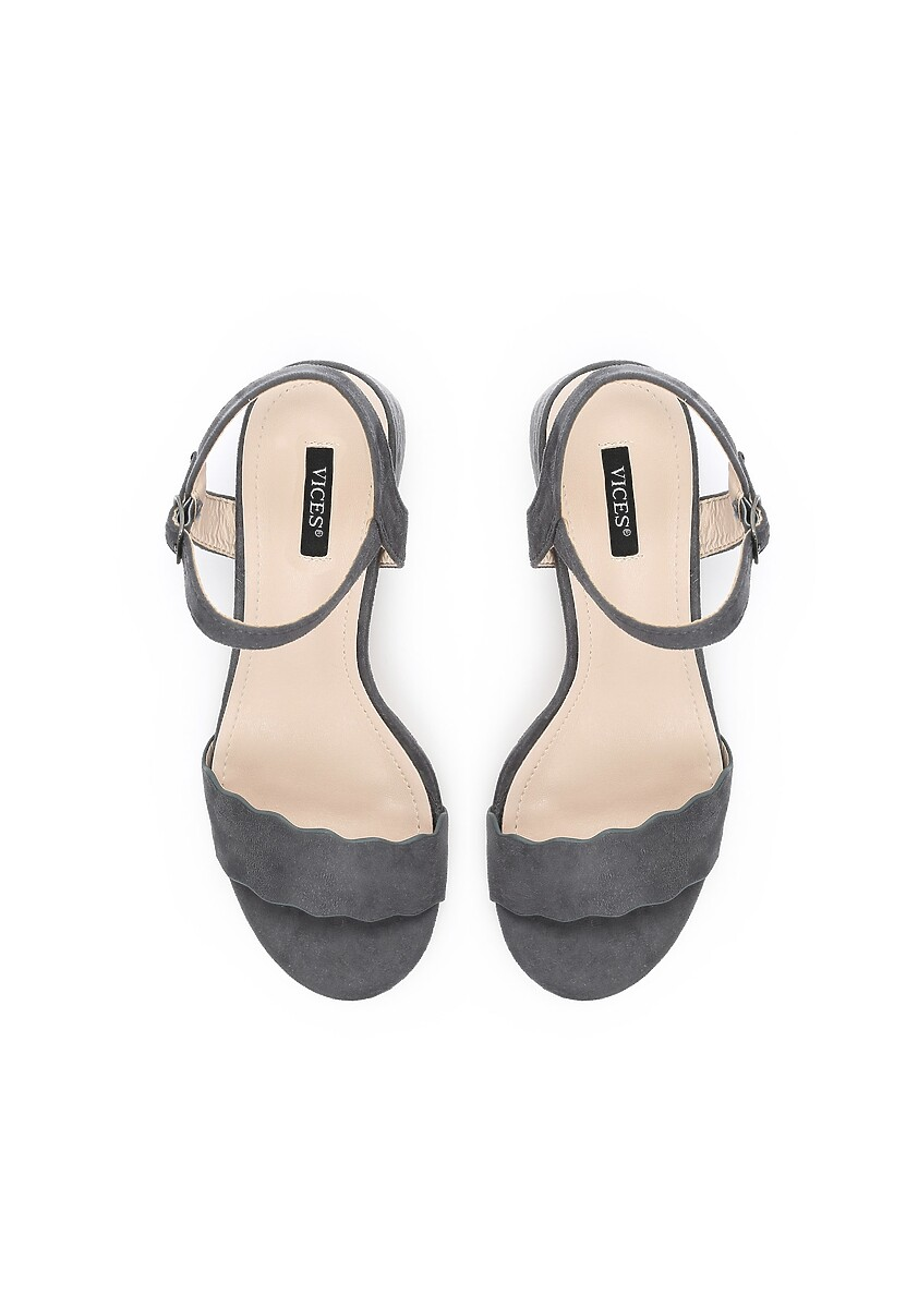 Granatowe Sandały References