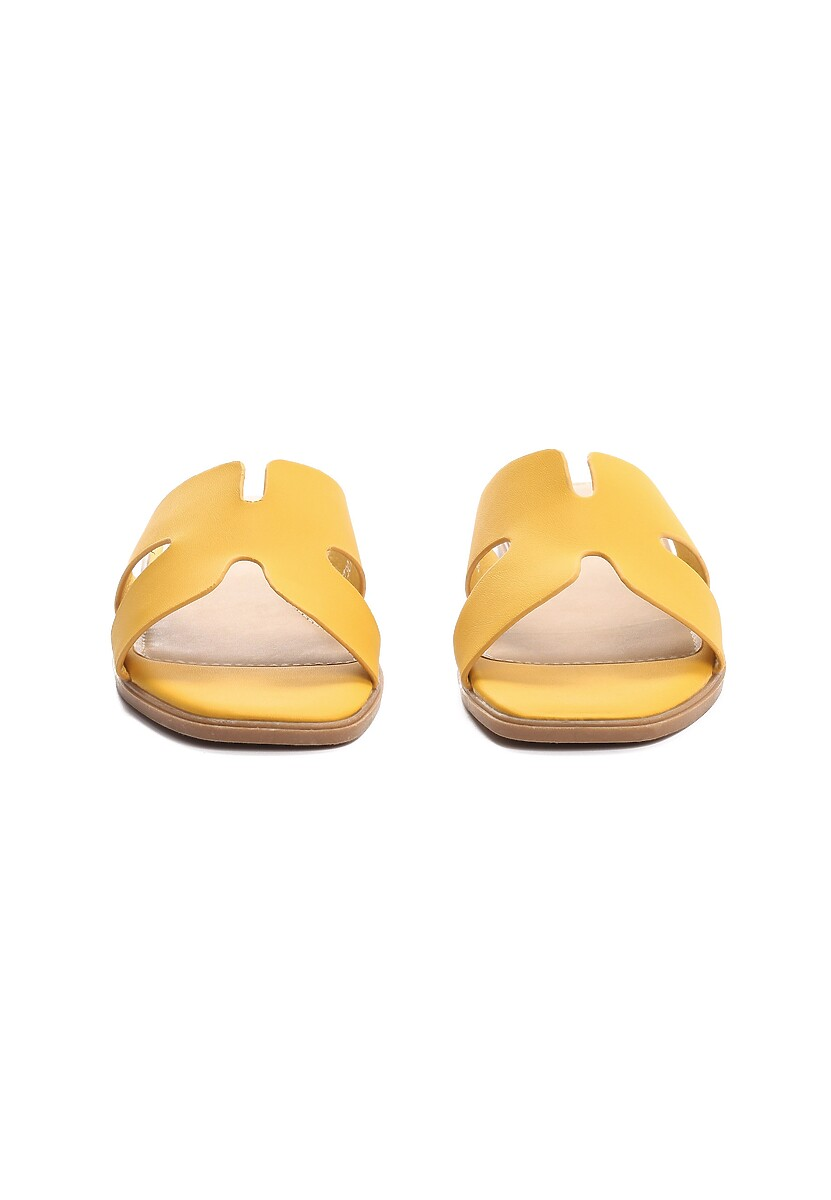 Żółte Klapki Acrid