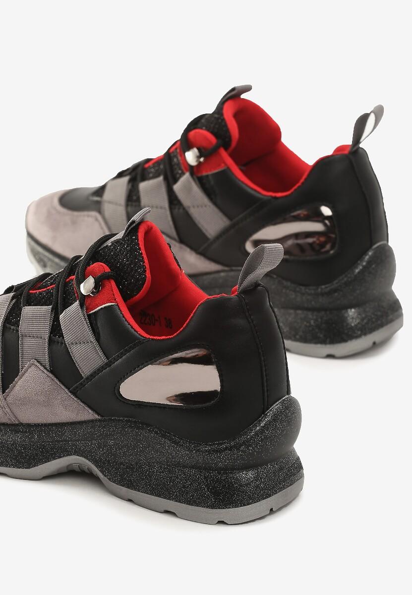 Czarne Sneakersy Militant