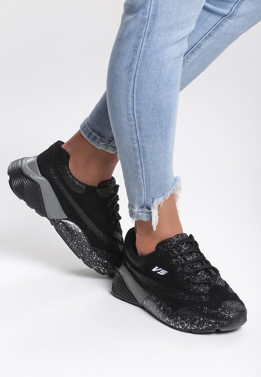 Czarne Sneakersy Big World