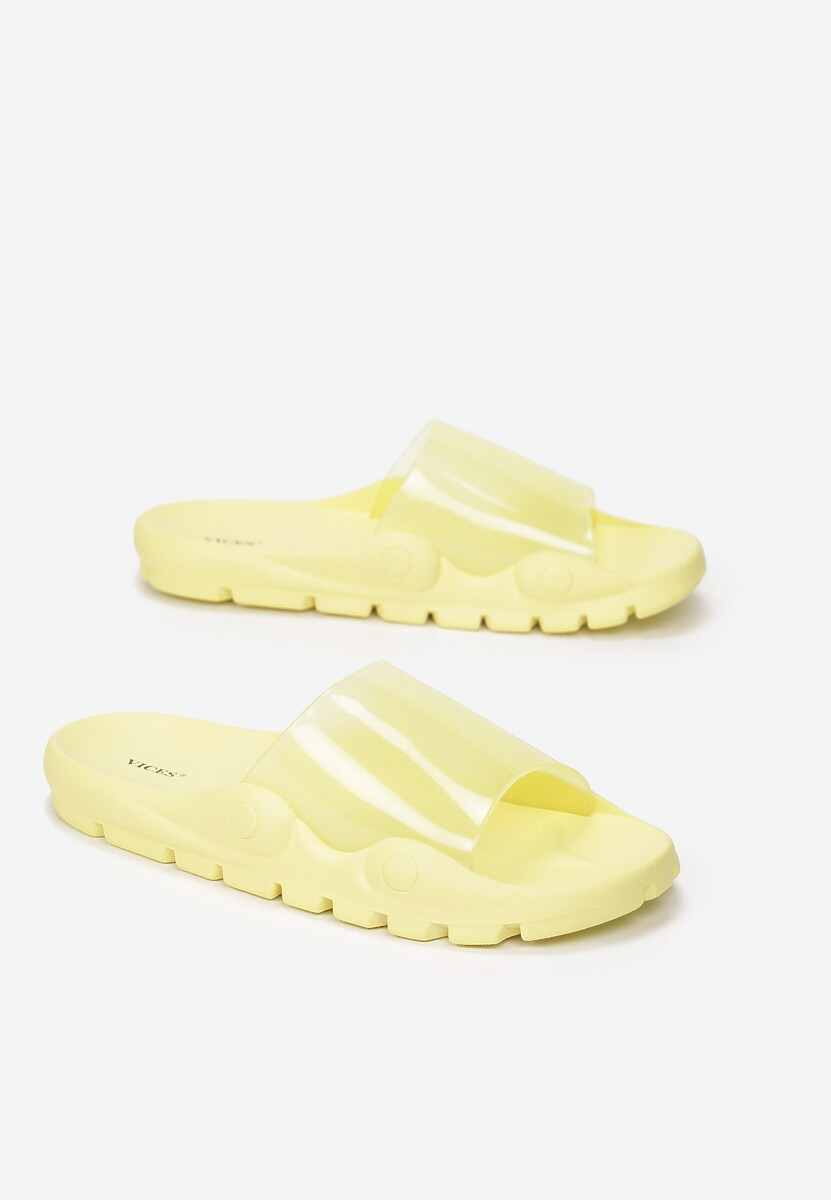 Żółte Klapki Undoubted