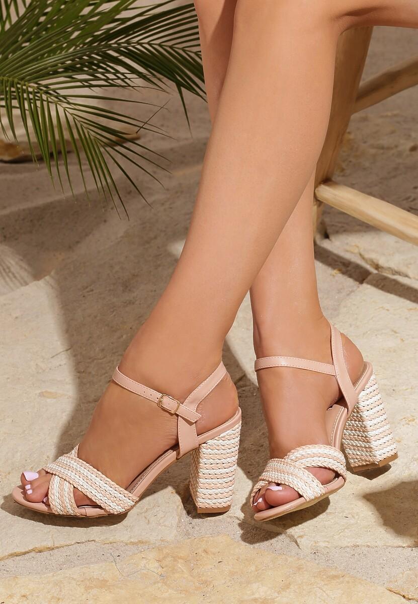 Różowe Sandały Up And Go