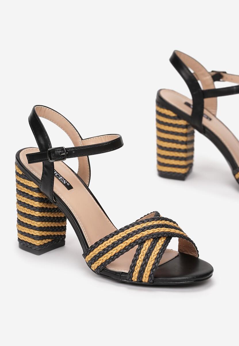 Czarne Sandały Up And Go