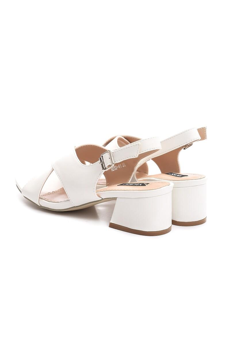 Białe Sandały Prickly