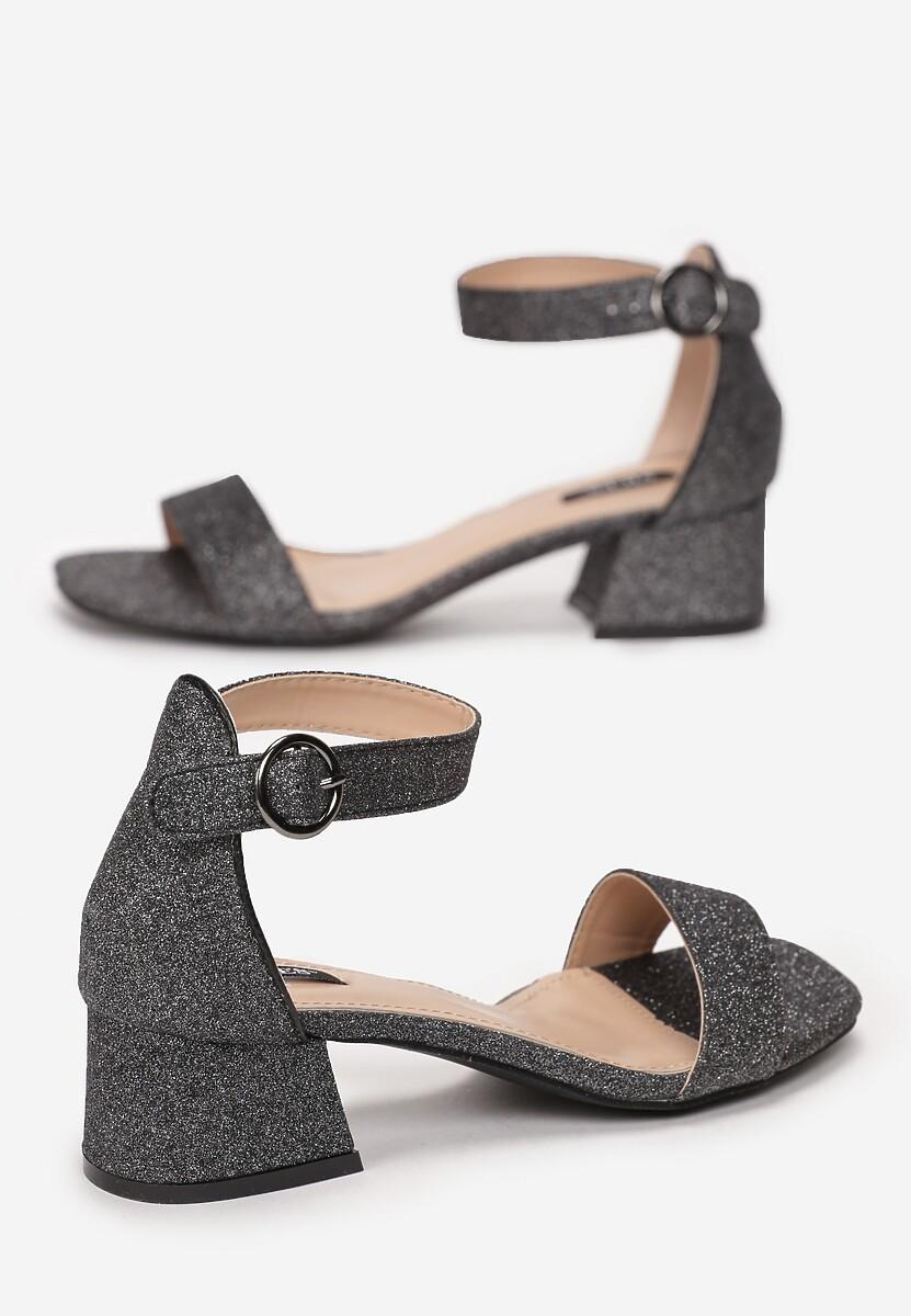 Czarne Sandały Unsharp