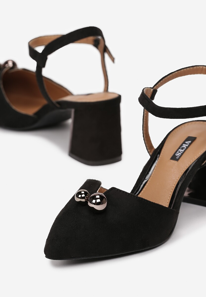 Czarne Sandały On Ice