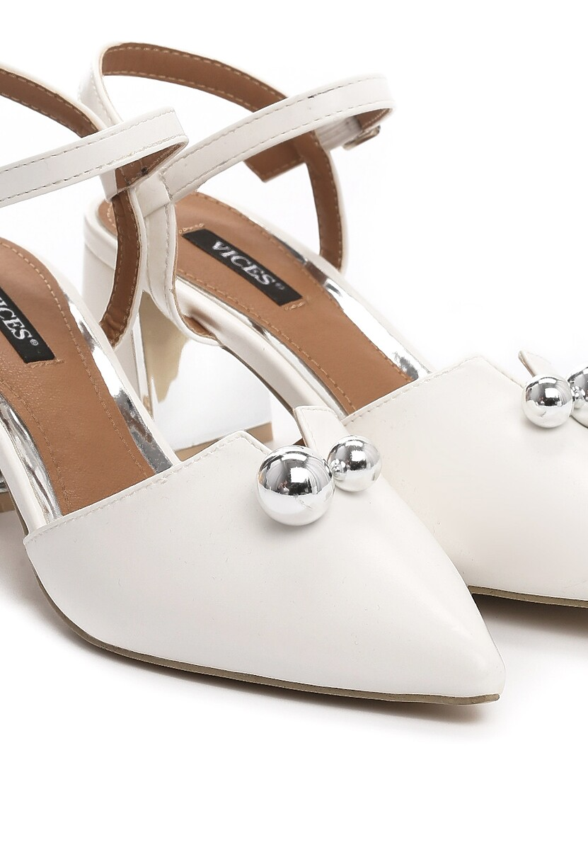 Białe Sandały On Ice