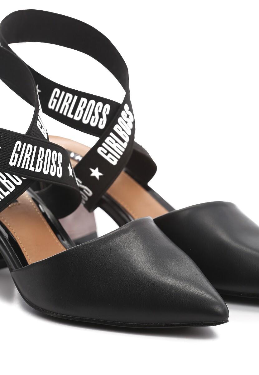 Czarne Sandały Bopper