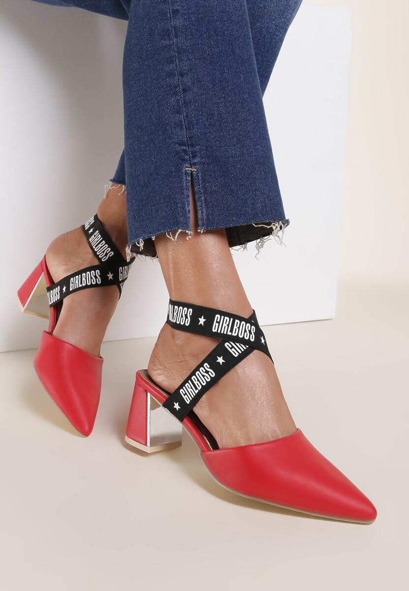 Czerwone Sandały Bopper