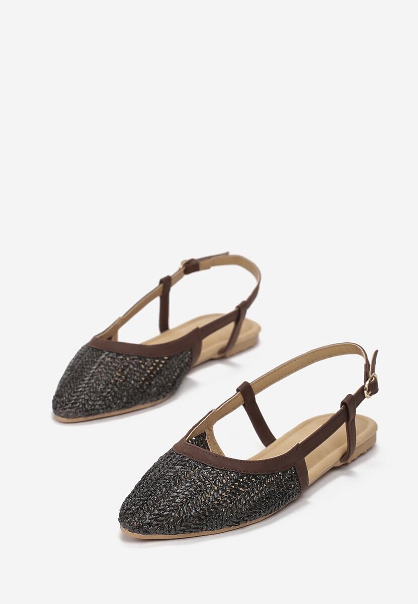 Czarne Sandały Hanging In