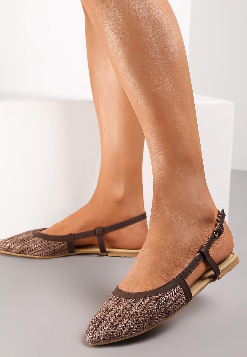 Brązowe Sandały Hanging In